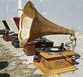 gramophone and patio