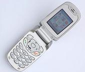 Silber Flip Phone