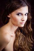 Beautiful model with fashion makeup