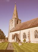 Постер, плакат: St Mary Magdalene Church In Tanworth In Arden Vintage