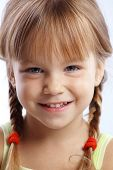 Portrait of funny lovely little girl