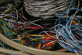 Tangle Of Telecom Wire