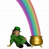 pic of end rainbow  - end of the rainbow.