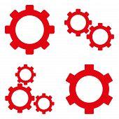 Постер, плакат: Gears Flat Vector Symbols