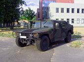4X4 Nato Truck In A City.