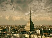 Panoramic View of Turin, Italy
