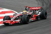 Lewis Hamilton, England of Vodafone McLaren Mercedes F1 team 2008