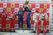 SEPANG, MALAYSIA - JUNE 21: The GT500 winners podium at the Super GT International Series Round 4 ra