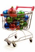 Shopping Trolley Full Of Christmas Decorations 1