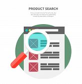 Постер, плакат: Search Product Website Design Flat