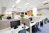 stock photo of interior  - Office work place - JPG