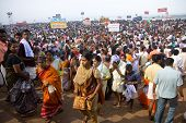 Kerala - August 9: Huge Crowds Gather To Commemorate Their Ancestors On August 9, 2010 In Kerala, In