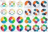 Big set of vector circle infographic. poster