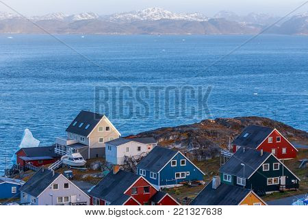 Colorful greenlandic houses