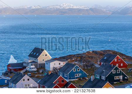 Colorful greenlandic houses