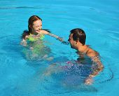 Swimming Romance Honeymoon