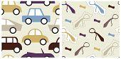 Set of male seamless patterns