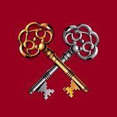 Chaves de ouro e prata