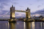 Tower Bridge London, Dusk