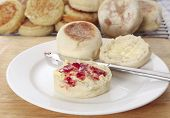 English Muffin And Jam