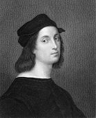 Raphael (1483-1520). Engraved by W.Holl and published in The Gallery of Portraits with Memoirs encyc