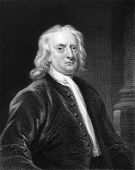Isaac Newton (1643-1727). Engraved by E.Scriven and published in The Gallery Of Portraits With Memoi