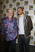 SAN DIEGO, CA - JULY 24: Ron Perlman; Charlie Hunnam at the 'Sons of Anarchy' press line at 2011 Comic-Con International on July 24, 2011 in San Diego, California.