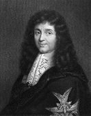 Jean-Baptiste Colbert (1619-1683). Engraved by W.Holl and published in The Gallery Of Portraits With
