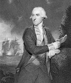 Admiral Samuel Hood, 1st Viscount Hood (1724-1816). Engraved by H.Robinson & published in Portraits