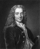 Voltaire (1694-1778). Engraved by J. Mollison and published in The Gallery Of Portraits With Memoirs