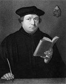 Martin Luther (1483-1546). Engraved by C.E.Wagstaff and published in The Gallery Of Portraits With M