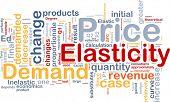Background concept wordcloud illustration of price elasticity demand