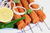 pic of kababs  - seekh kabab indian food ready to eat