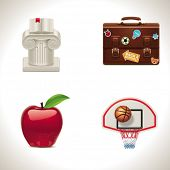 Vector school and education icons. Part 4