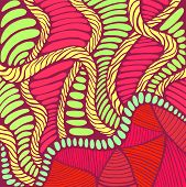 Vibrant Psychedelic Colorful Surreal Background. Bright Colors Abstract Texture, Maze Of Ornaments. poster
