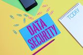 Word Writing Text Data Security. Business Concept For Confidentiality Disk Encryption Backups Passwo poster