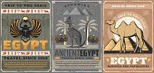 Egypt Travel, Religion And Culture Symbols. Vector Egyptian Scarab Bug Symbolic Beetle, Camel And Py poster