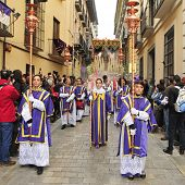 GRANADA, SPAIN - APRIL 4: Easter Procession of Maria Santisima del Sacromonte on April 4, 2012 in Granada, Spain. This statue is known as Virgen de los Gitanos, the Virgin of the Gypsies