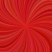 Red Abstract Psychedelic Striped Vortex Background Design - Vector Graphic From Swirling Rays poster