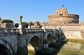 Sant Angelo bridge in Rome, Italy