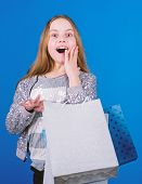 Black Friday Best Deals. Happy Child In Shop With Bags. Shopping Is Best Therapy. Shopping Day Happi poster