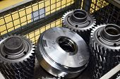 Metal Billet For The Production Of Gears On A Threading Machine For Automobile Gearboxes For Trucks. poster