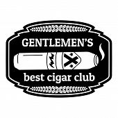 Best Cigar Club Logo. Simple Illustration Of Best Cigar Club Vector Logo For Web Design Isolated On  poster