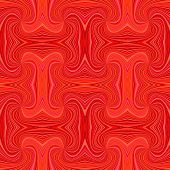 Red Seamless Abstract Psychedelic Spiral Ray Stripe Pattern Background - Vector Illustration poster