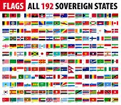 All 192 Sovereign States - World Flags Series
