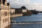 Czech Republic, Prague, Vlatva River Banks.