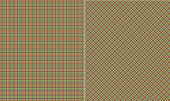 Pink Lime & Blue Plaid Paper Set