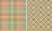 Pink Lime Blue & White  Plaid Paper Set