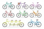 Bicycle Set. Transport Collection. Sport Transportation With Pedal poster
