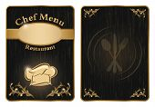 Capa de Menu do chef ou placa - Vector 2